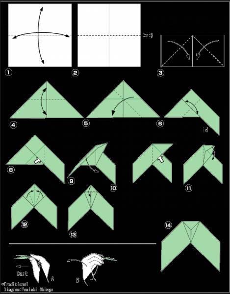 Схемы оригами которые двигаются